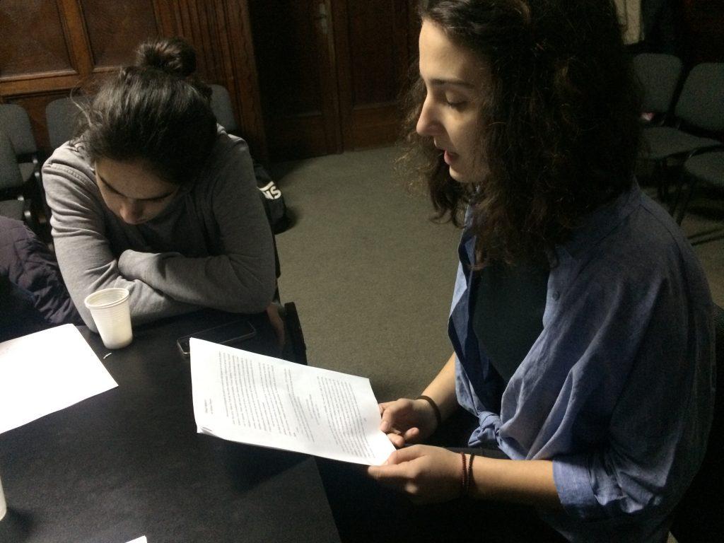 La intalnirea clubului Helion, in 20 ianuarie 2017, a citit Andreea Tanasie