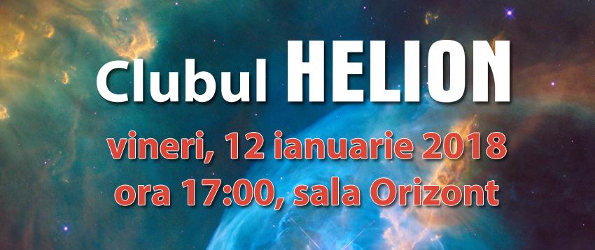 REUNIUNE A CLUBULUI HELION, VINERI, 12 IANUARIE 2018