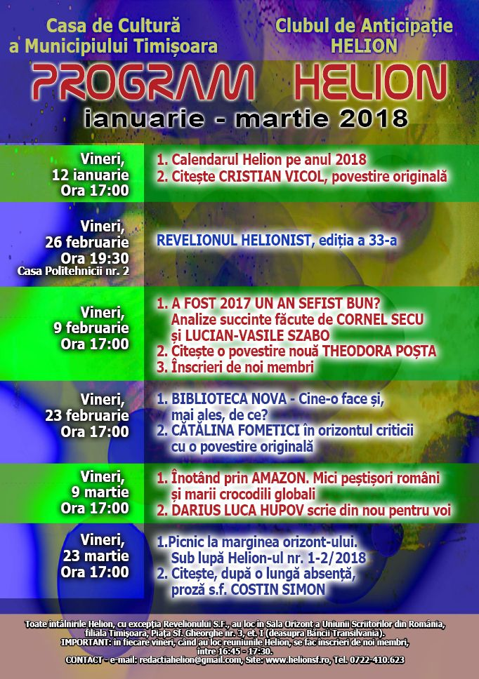 program club helion ianuarie- februarie 2018