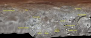 Map projection of Charon