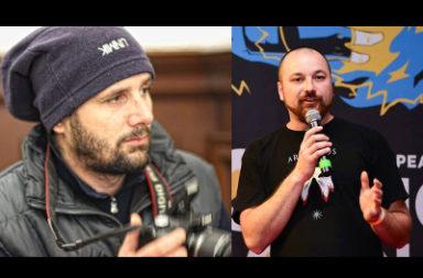 George Sauciuc (stânga) și Alexandru Lamba (drapta