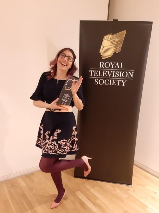Daria Hupov premiată de Societatea regală de Televiziune